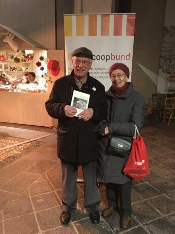 Franco Rauzi e sua moglie Mara alla presentazione del libro presso il Palazzo Mercantile